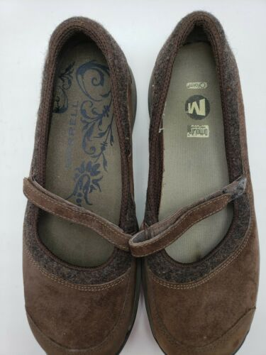 Merrell Women's Size 9 Mary Jane Slip On Brown Encore Emme Coffee S213