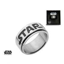 Disney Star Wars Logo Stainless Steel Spinner Ring - $23.45