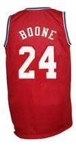 Ron Boone #24 Aba West All Stars Basketball Jersey Sewn Red Any Size image 2