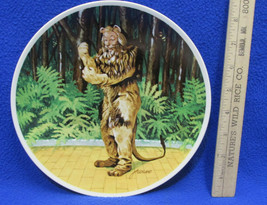Wizard of Oz Collectors Plate Cowardly Lion If I Were King J Auckland Kn... - $14.10
