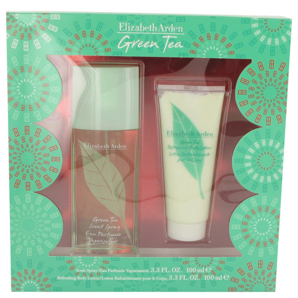 Primary image for Green Tea By Elizabeth Arden Gift Set -- 3.3 Oz Scent Spray + 3.3 Body Lotion Fo