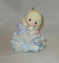 Wishing You a Fairy Merry Christmas Precious Moments Ornament Bird Flowe... - $35.63