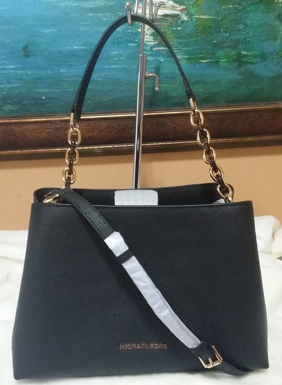 b448967e86b4e8 57. 57. Previous. Michael Kors sofia Portia Large East West Satchel ~ Black  Leather NWT. Michael Kors ...