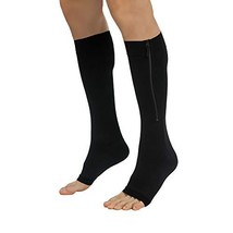 Zipper Compression Socks for Men Women Open Toe Toeless 20-30mmHg Knee H... - $24.96