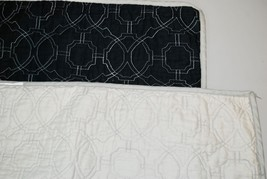 Set of 2 WAVERLY HOME Quilted Standard Pillow Shams Black/Stone Khaki 10... - $24.74