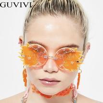 Rimless Vintage Sunglasses Women  Retro Steampunk Sunglasses Men Punk Sunglasses