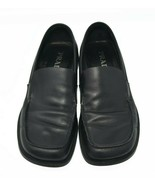 PRADA Black Leather Loafers Women's Sz 7 Luxury Comfort Casual Flats - $65.99