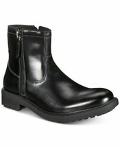 Unlisted by Kenneth Cole Men's BLACK BOOTS C-Roam Zip-Up Boot Size 7 Black  - $24.12
