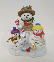 PartyLite SNOWBELL CANDLE HOLDER Votive TeaLight  P7702 Snowman Family - $18.99