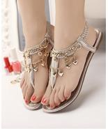 Golden Women Crystals Bridal Wedges Sandals,Golden Ladies Wedding Wedges... - €36,33 EUR