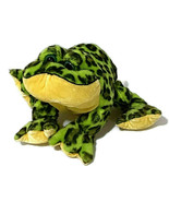"Ganz Webkinz Lil Bullfrog Plush 10"" Green Spotted Frog Bulging Eyes Smil... - $11.30"