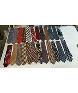 Lot Of 24 Silk Ties Addiction Izod DKNY Talbots Puritan Jones New York +... - $59.40