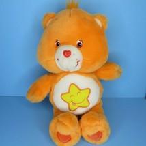 "Care Bears Laugh A Lot Bear 13"" Plush Orange Yellow Smiling Star Play Al... - $19.95"
