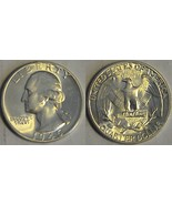 1945 WASHINGTON QUARTER- LUSTROUS !! GEM BRILLIANT UNCIRCULATED - $18.69