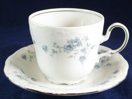 Johann Haviland Bavaria Blue Garland Flat Cup & Saucer Set Germany, Exc.... - $9.99