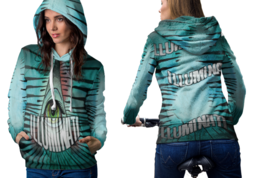 Blue Eyes Hail Satanic Hoodie Women - $44.99