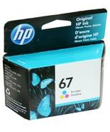 HP 67 OEM Genuine Ink Cartridge Tri-Color 3YM55AN Envy Pro DeskJet Plus ... - $12.30