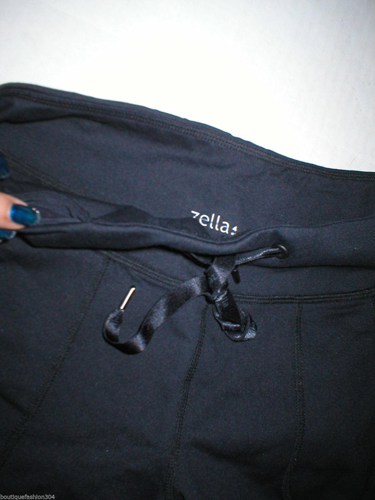 Women New Zella Nordstrom Pants Gym 0 Black Crop Capri Soul 2 Barre Yoga Pilate image 3