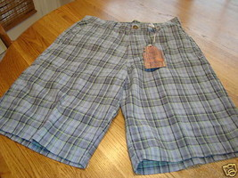 Reef shorts surf brand NWT 52.00 grey plaid 30 boys youth - $30.46
