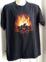 Harley Davidson Mens Graphic T-Shirt XL Flames Annapolis MD 2003 - $14.85