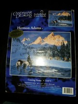 "Candamar Designs Cross Stitch Hermon Adams Coming Home [16"" × 12""] New &... - $19.75"