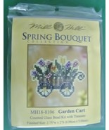 Mill Hill Spring Bouquet Collection Garden Cart Counted Glass Bead Kit M... - $5.49