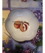 1961 Royal Worcester Evesham Porcelain Gold Trim Fruit Candy Dish Bowl E... - $24.99