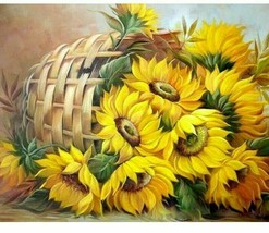 paints by numbers 40x50cm Frame DIY Painting By Numbers Kits Sunflowers - $19.99