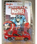 2003 Maisto Ultimate Marvel Series 1 #9/25 Captain America Chevrolet Corvette - $9.80