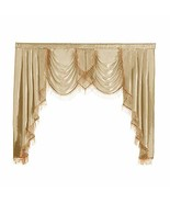 NAPEARL Polyester Thin Satin Curtain Valance Window Decoration Champagne... - $28.94