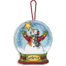 Believe Snowglobe Ornament Kit counted cross st... - $5.85
