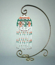 """American Indian, Teal, Coral & White """"Jewelry For The Home"""" - $87.50"""