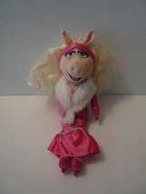 "The Muppets Exclusive 15"" Plush Figure Miss Piggy,Pink Gown White Fur - $12.86"