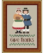 Give Thanks thanksgiving fall PDF cross stitch charts Helga Mandl Designs - $8.00