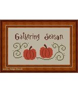 Gathering Season pumpkin fall PDF cross stitch charts Helga Mandl Designs - $7.00