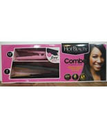 Hot Beauty Professional Combo Hair Straightener value pack anti-frizz fl... - $19.59