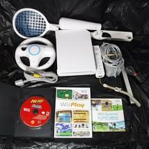 Nintendo Wii RVL 001 Console System Gamecube Compatible White Sports Pla... - $70.13