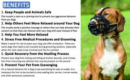 Barkless Soft Basket Silicone Dog Muzzle, Black, Size 2 image 2