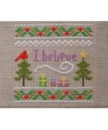 I Believe christmas holiday PDF cross stitch charts Helga Mandl Designs - $5.00