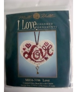 Mill Hill I Love Charmed Ornaments Love Counted... - $5.49