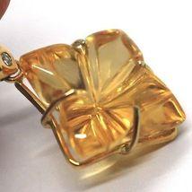 Drop Earrings in 18k Yellow Gold, Diamonds, Quartz citrine, Hearts, Flowers image 3