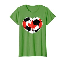 Sport Shirts - Canada Soccer Ball Heart Jersey Shirt - Canadian Football... - $19.95+