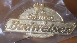 "Gold Tone Budweiser Buckmaster Hunting Hunter Lapel Pin 1 1/2""  x 3/4"" - $12.86"