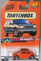 1990's Matchbox # 17 VW Concept 1 Orange mint on card - $2.99