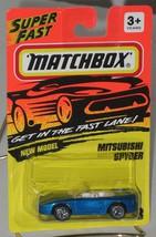 1990's Matchbox #28 Mitsubishi Spyder Metallic Blue mint on card - $2.99