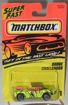 1990's Matchbox # 1 Dodge Challenger Splattered Yellow Hot Pink Int & Blower MOC - $3.99