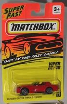 1990's Matchbox # 10 Viper RT/10 Red mint on card - $2.99