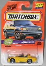 1990's Matchbox # 56 Super Cars Series 8 Dodge Viper Yellow mint on card - $3.49