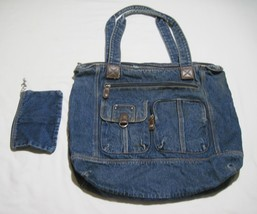 Purse Overnight Shoulder Tote Bag Medium Faded External Pockets Makeup P... - $13.95
