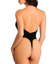 NEW JUNIOR'S FULLNESS LOW CUT THONG BODYSUIT BACKLESS BODY SHAPER BLACK #9001 image 2